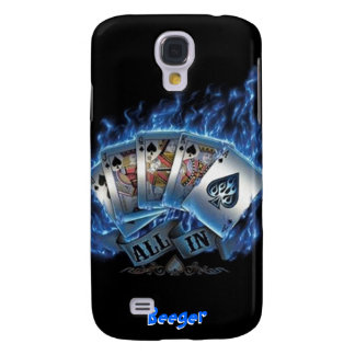 IPhone 3 Case- Royal Flush with Blue Flames