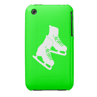 iPhone 3 Ice Skates Green iPhone 3 Cover