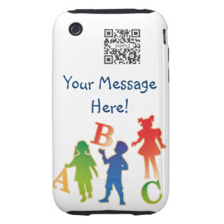 iPhone 3G/3Gs Case Template Daycare iPhone 3 Tough Cases