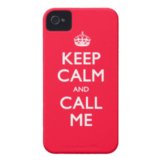 iPhone 4/4S Case-Mate Keep Calm and Call Me Case-Mate iPhone 4 Cases