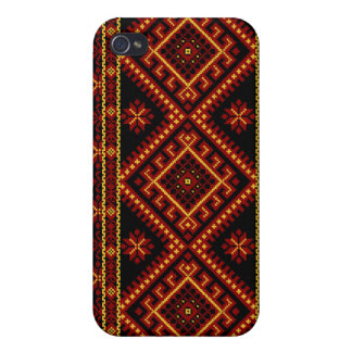 iPhone 4 / 4S Fabric Print Case Ukrainian Print iPhone 4/4S Cover