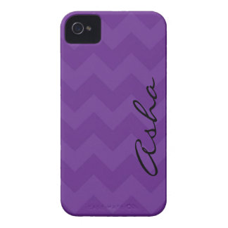iPhone 4/4s Purple Chevron iPhone 4 Case-Mate Case