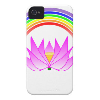 iphone 4 barely there QPC Covers Rainbow & Lotus