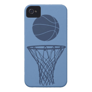 iPhone 4 Basketball Silhouette Dark Blue on Light Case-Mate iPhone 4 Cases