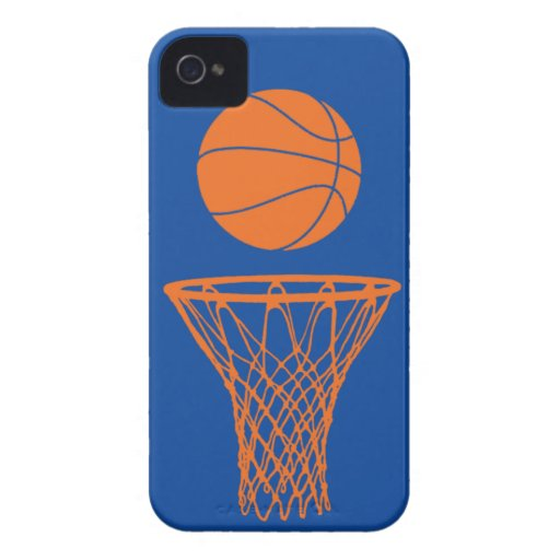 iPhone 4 Basketball Silhouette Knicks Blue Case-Mate iPhone 4 Case