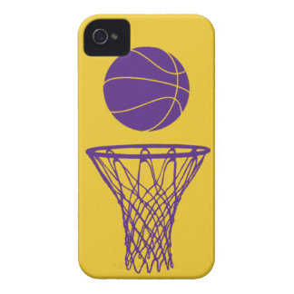 iPhone 4 Basketball Silhouette Lakers Gold iPhone 4 Case-Mate Cases
