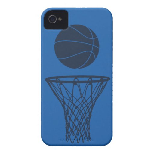 iPhone 4 Basketball Silhouette Maverick Blue Light iPhone 4 Covers