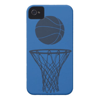 iPhone 4 Basketball Silhouette Maverick Blue Light iPhone 4 Case