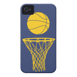 iPhone 4 Basketball Silhouette Pacers Blue iPhone 4 Case-Mate Case