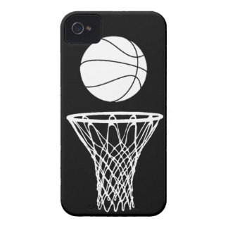 iPhone 4 Basketball Silhouette White on Black Case-Mate iPhone 4 Cases