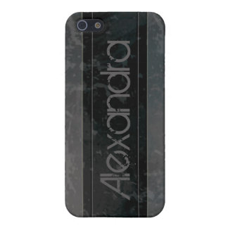 iPhone 4 Case Black Grunge Marble Distressed