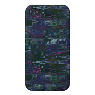 iPhone 4 Case Blue Abstract Reflection