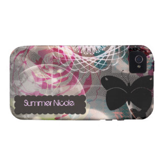 iPhone 4 Case bohemian butterfly ~ Case-Mate Tough