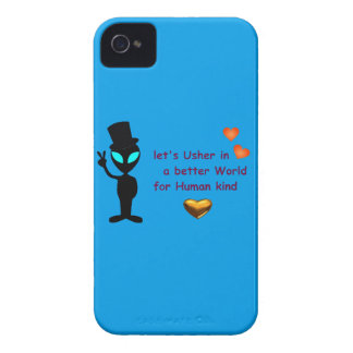 iPhone 4 Case cover - Alien Peace Call