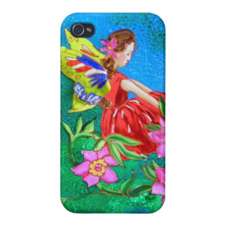 iPhone 4 case Fairy or Faerie with flowers