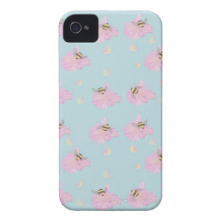 iphone 4 case- Floral Bee's iPhone 4 Case-Mate Cases
