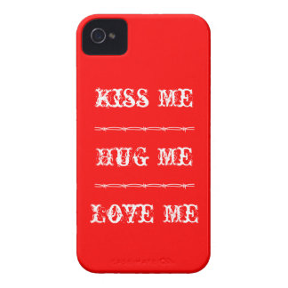 iPhone 4 Case Kiss Me, Hug Me, Love Me