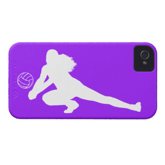 iPhone 4 Case-Mate Dig Silhouette White on Purple iPhone 4 Cases