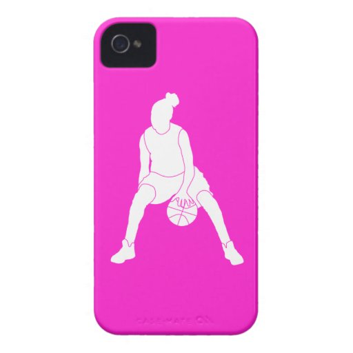 iPhone 4 Case-Mate Dribble Silhouette Pink