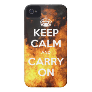 iPhone 4 Case-Mate Keep Calm and Carry On Fire iPhone 4 Case-Mate Case