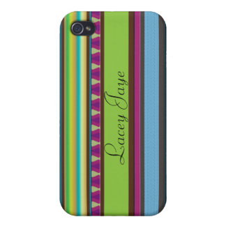 iPhone 4 Case Sinclair Stripes Personalized