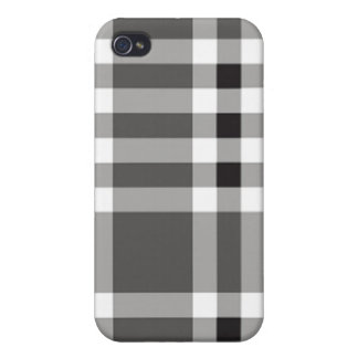 iPhone 4 Case - Solid Plaid - Clam