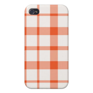 iPhone 4 Case - Solid Plaid - FireCoral