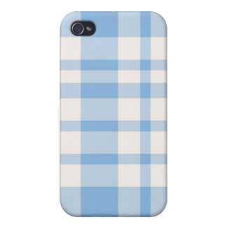 iPhone 4 Case - Solid Plaid - SeaSalt