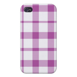 iPhone 4 Case - Solid Plaid - Tang