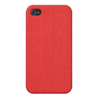 iPhone 4 Case - Textured Solid - Vibrant Red