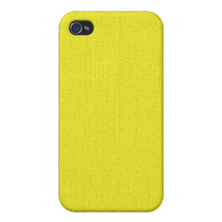 iPhone 4 Case - Textured Solid - Vibrant Yellow