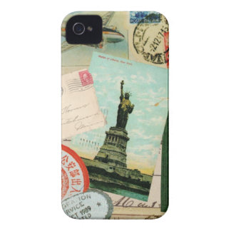 iphone 4 case.. .Vintage travel stamps iPhone 4 Case-Mate Case