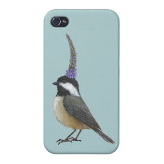 iPhone 4 case with chickadee
