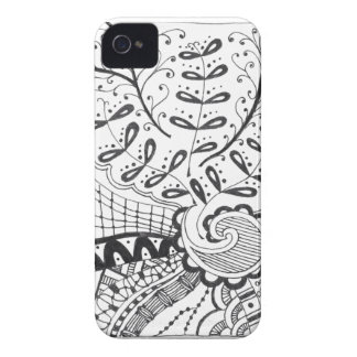 iPhone 4 case with doodle art.