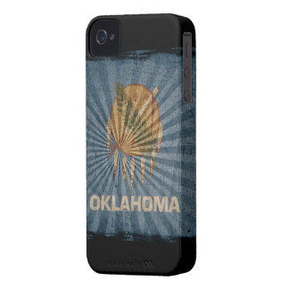 Iphone 4 Case with state flag of Oklahoma