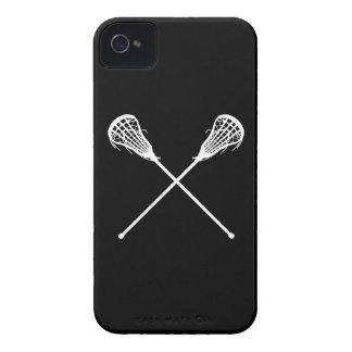 iPhone 4 Lacrosse Sticks Black iPhone 4 Case-Mate Cases