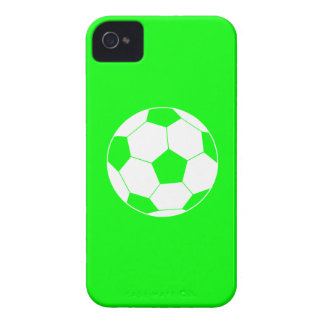iPhone 4 Soccer Ball Silhouette Green iPhone 4 Case-Mate Case