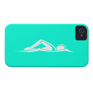 iPhone 4 Swim Logo Turquoise Case-Mate iPhone 4 Cases