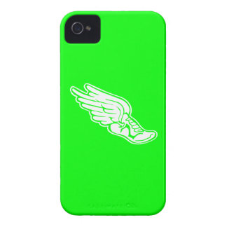 iPhone 4 Track Logo White on Green iPhone 4 Case