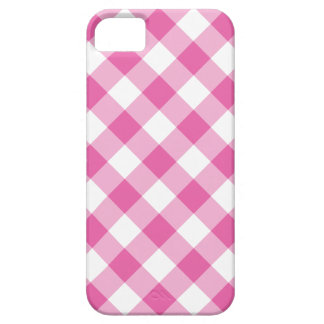 iPhone 5/5s Case: Pink and White Check Gingham iPhone 5 Cases