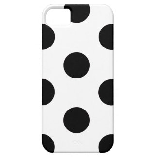 iPhone 5/5S Case Polka Dot White & Black