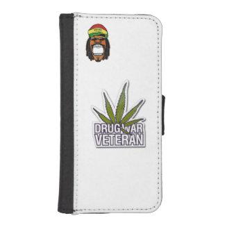 iPhone 5/5s Wallet Case Rasta man Drug war veteran iPhone 5 Wallet Cases