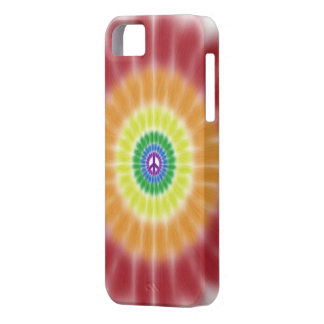 iPhone 5 Barely There Case, Rainbow Peace Burst iPhone 5 Case