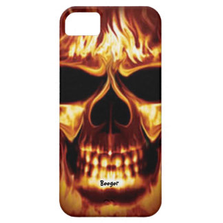 Iphone 5 barely there - Skull Face on Fire iPhone 5 Cover