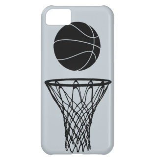 iPhone 5 Basketball Silhouette Black on SIlver Cover For iPhone 5C