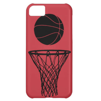 iPhone 5 Basketball Silhouette Bulls Red Cover For iPhone 5C