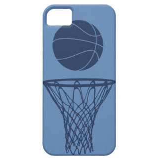 iPhone 5 Basketball Silhouette Dark Blue on Light iPhone 5 Cover