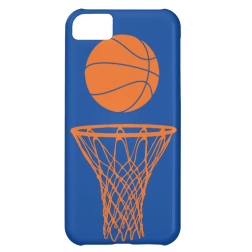 iPhone 5 Basketball Silhouette Knicks Blue iPhone 5C Covers