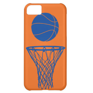 iPhone 5 Basketball Silhouette Knicks Orange Case For iPhone 5C