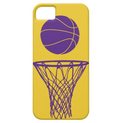 iPhone 5 Basketball Silhouette Lakers Gold iPhone 5 Case